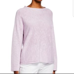 NWT Eileen Fisher round neck box top sweater Malow